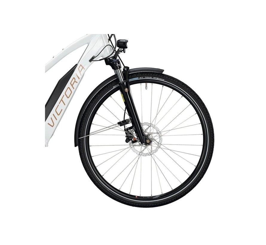 E Bike dames misty wit/zilver Bosch 500 Wh