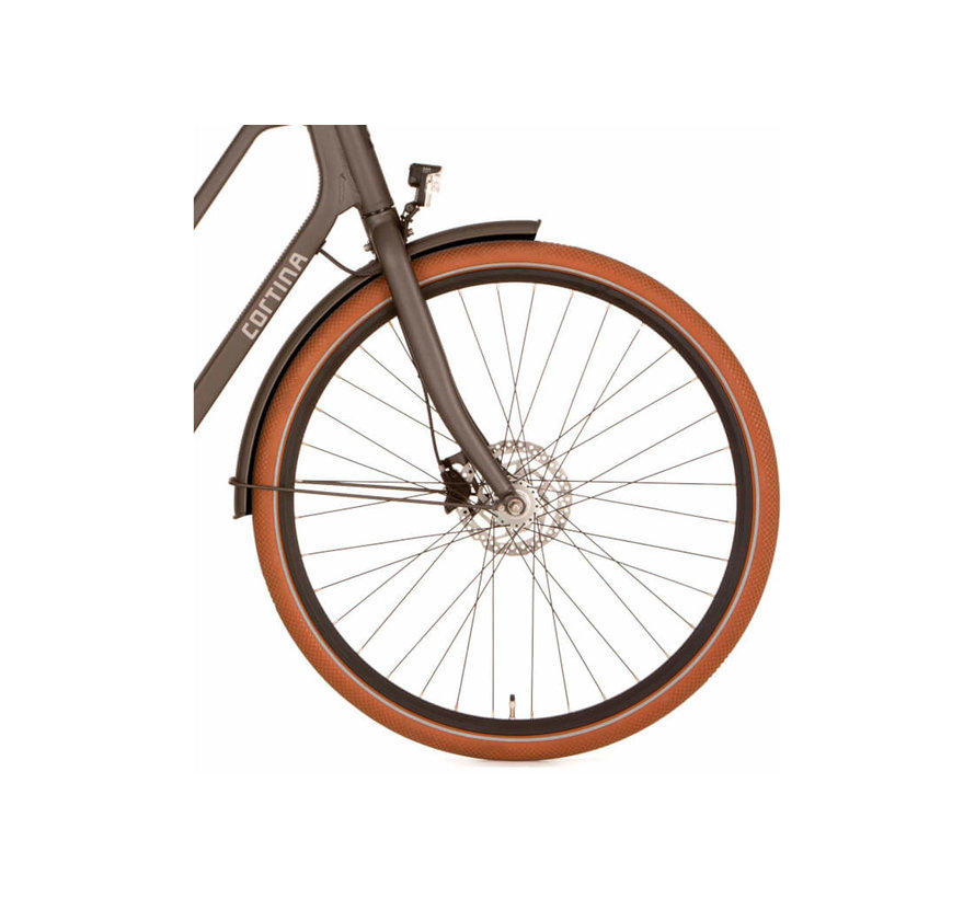 E-Foss elektrische fiets 8V - Iron Black Matt - Middenmotor