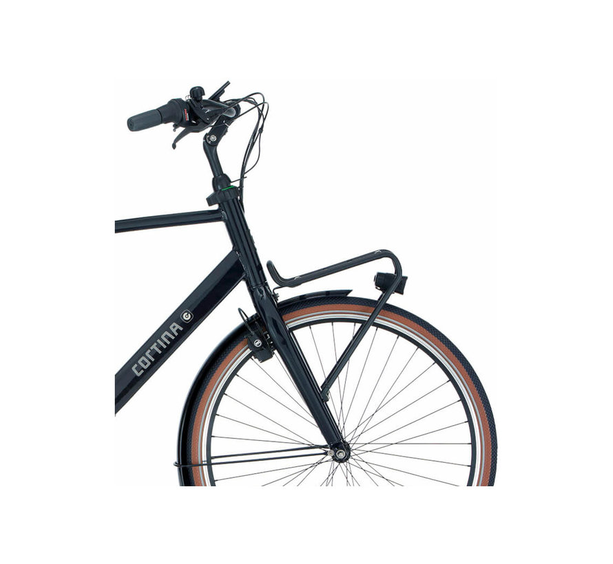 e-Common elektrische fiets 8V Dark Grey Matt - Belt