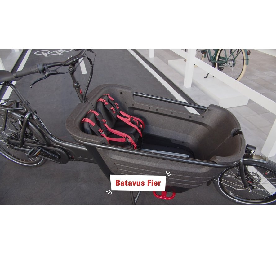 Fier 2 elektrische bakfiets Zwart - Enviolo