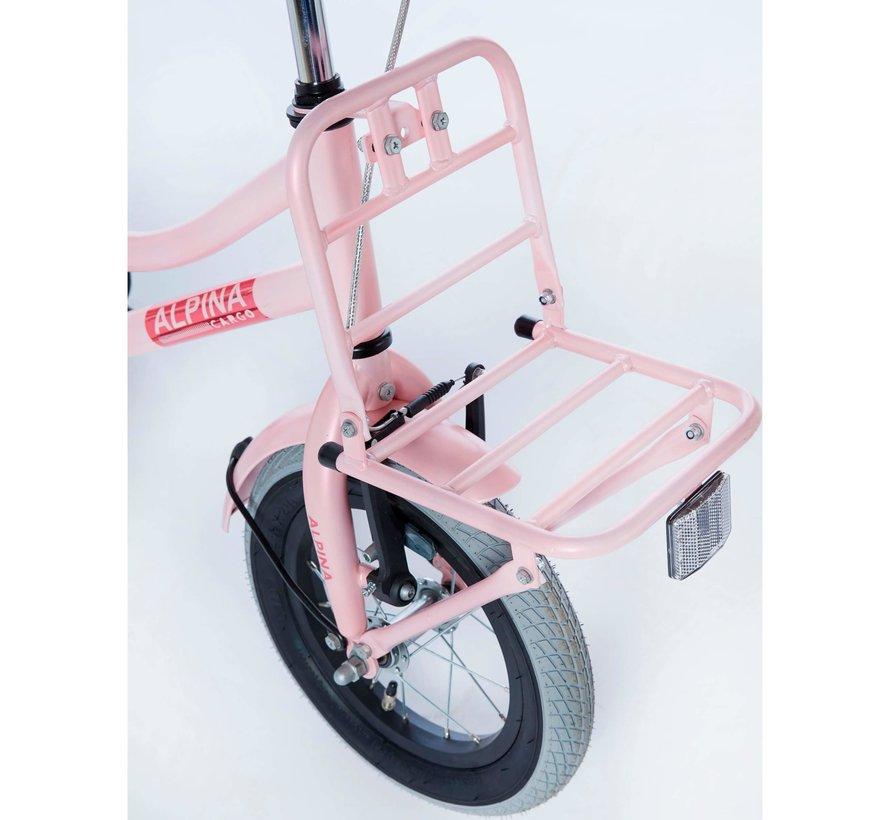 Cargo meisjesfiets 12 inch mat Roze