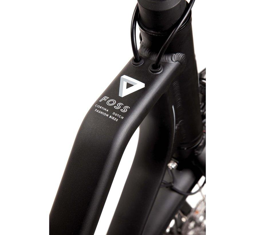 E-Foss elektrische fiets 8V Diamond Black - Middenmotor