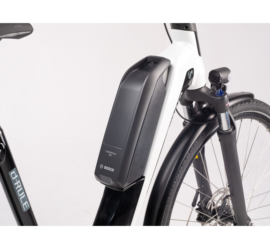 d-Rule M7TB Smart elektrische fiets 7V Mat Zwart Wit
