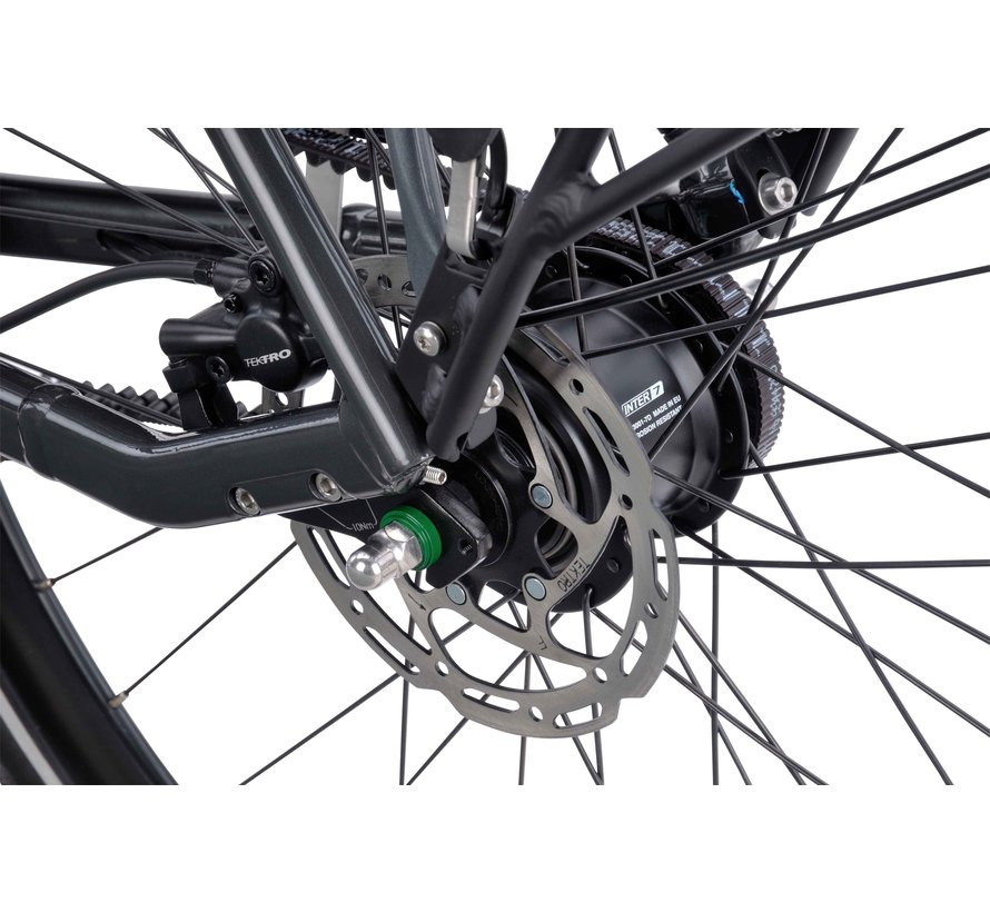 Dinsdag elektrische fiets Exclusive Classic 7V Glans Zwart