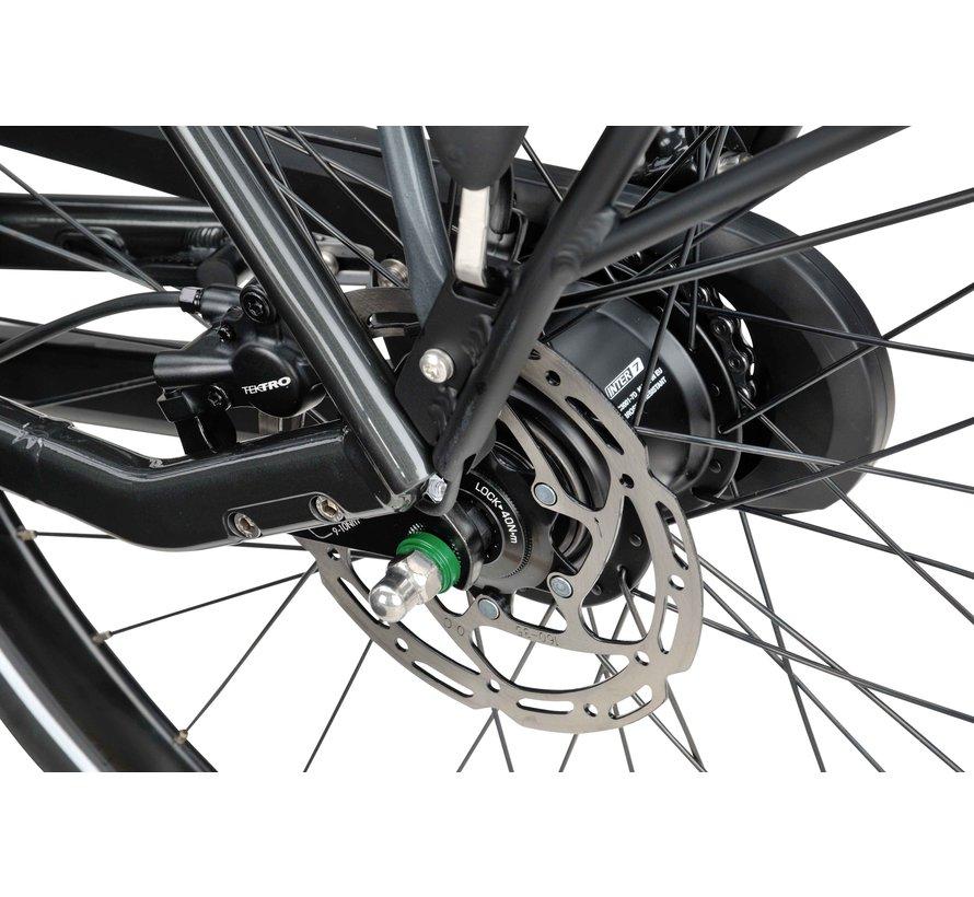 Dinsdag elektrische Heren fiets 7V Zwart glans