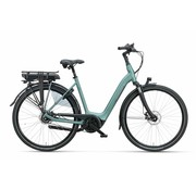 Batavus  Finez Exclusive elektrische fiets 7V Petrol Zilver Mat - Belt