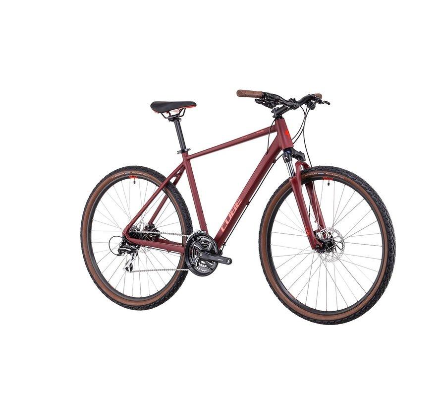 Nature mountainbike Dark Red 24V