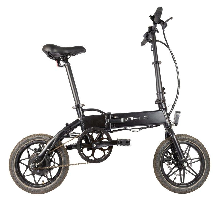 R140 elektrische vouwfiets 14 inch Zwart