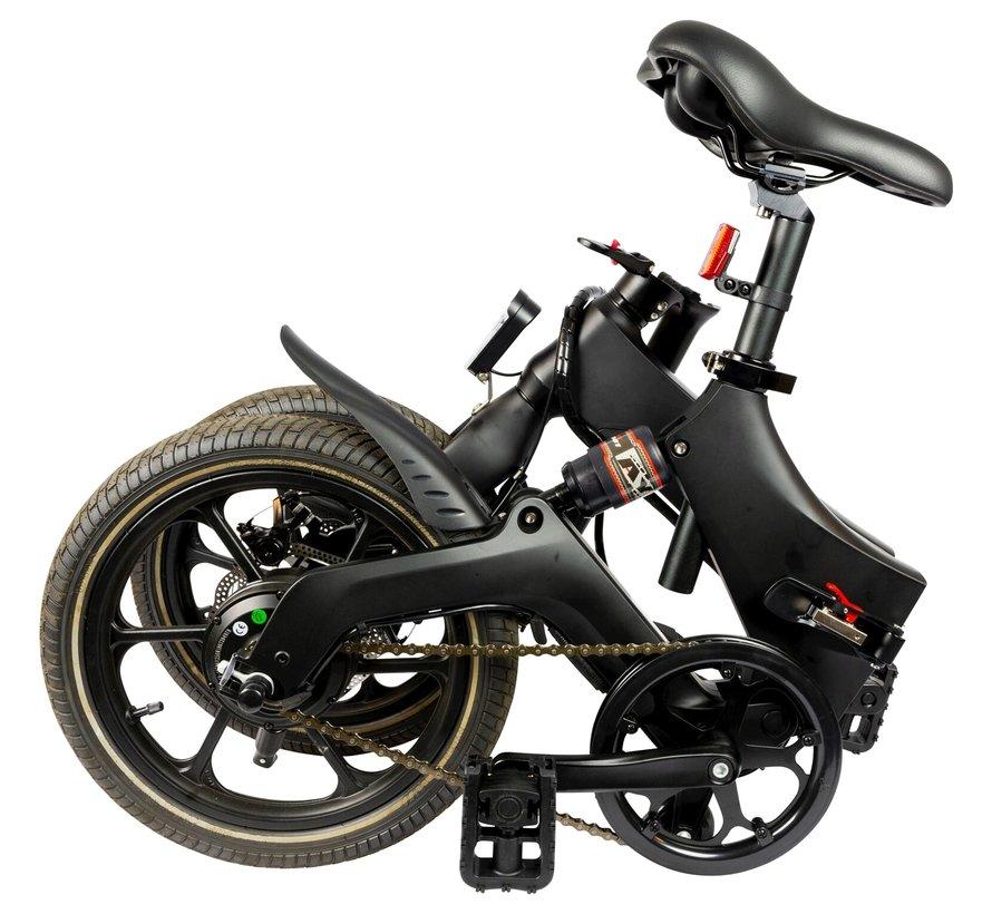 X160 elektrische vouwfiets 16 inch Zwart