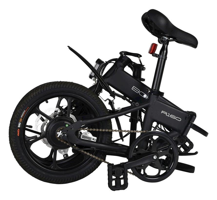R160 elektrische vouwfiets 16 inch Zwart