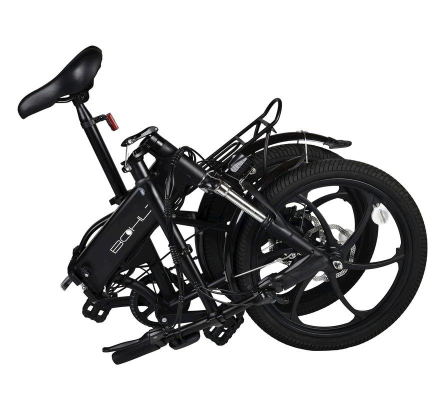 R200 elektrische vouwfiets 20 inch Zwart