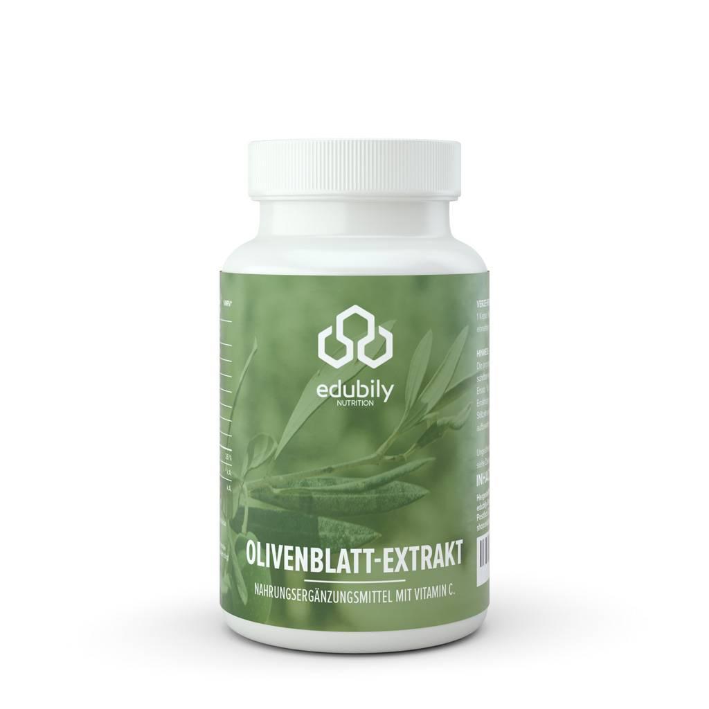 edubily Olivenblatt-Extrakt Kapseln mit Vitamin C