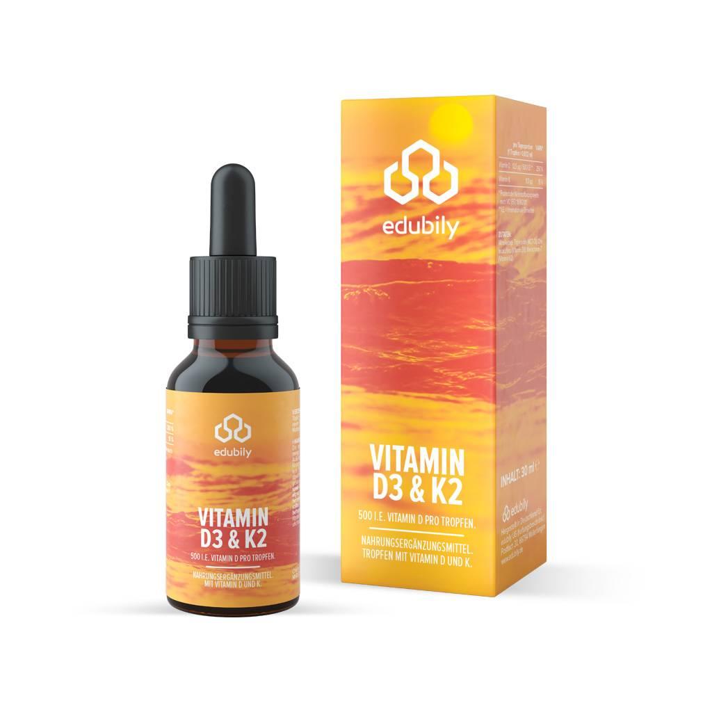 edubily Vitamin D3 K2 Tropfen