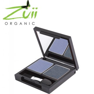Zuii Organic Duo Eyeshadow Palette Denim