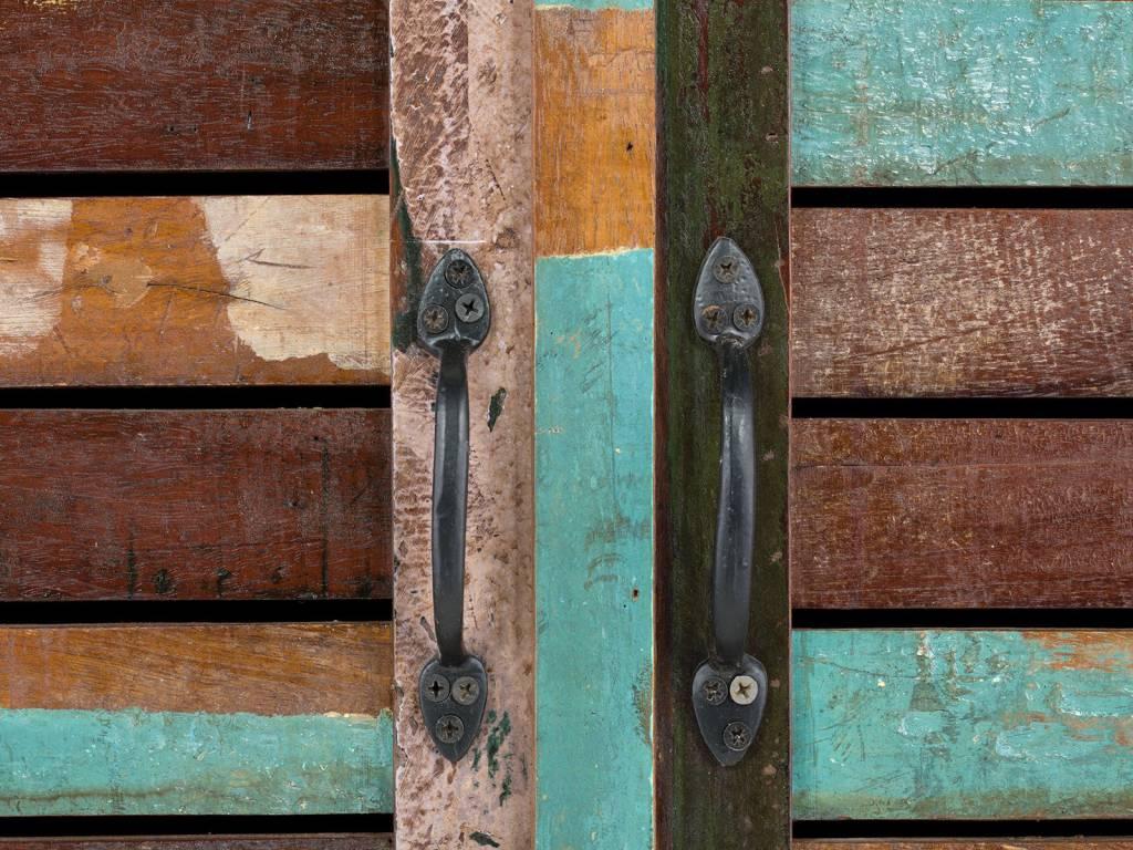 massiv Holz Kleiderschrank Altholz Teak