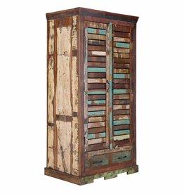 massiv Holz Kleiderschrank 180 Altholz
