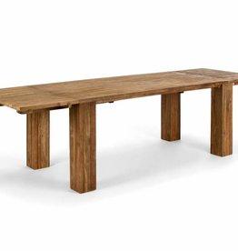 Auszieh Ess Tisch massiv Holz Teak