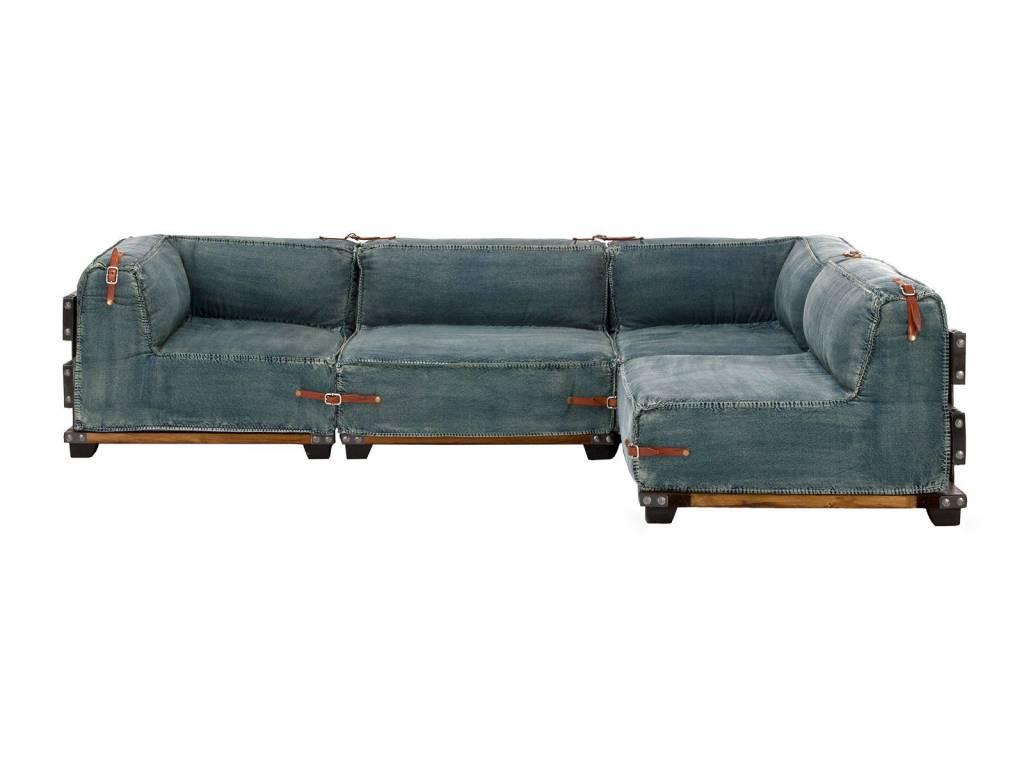 Eck Sofa im Industrie Design Jeans