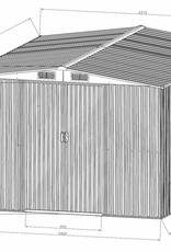 Gerätehaus Gartenhaus aus Metall