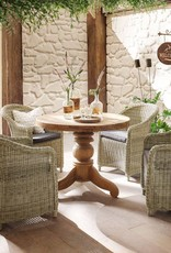massiv Holz Tisch Teak rund  100cm oder 150 cm