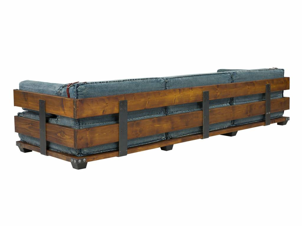 3 Sitzer Sofa im Industrie Design