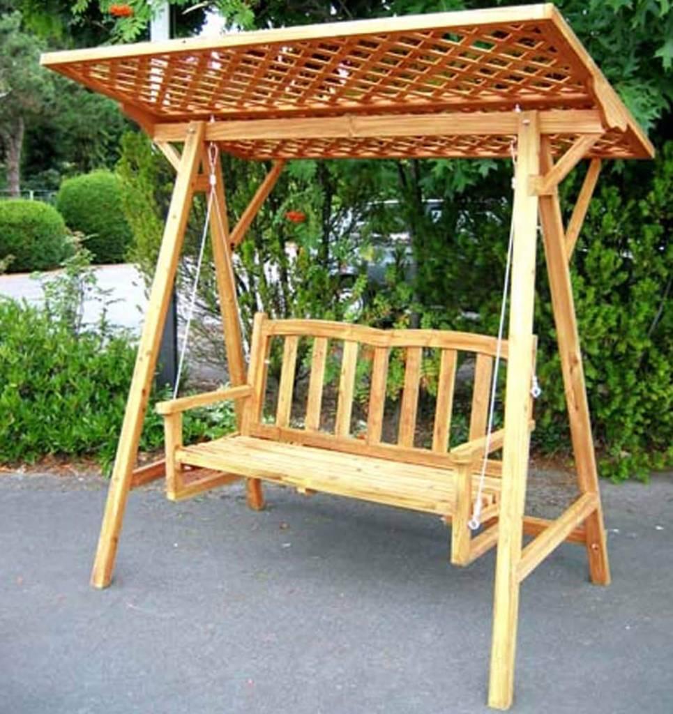 Hollywoodschaukel Holz für Zwei - Massivholzmöbel bei ...  Hollywoodschauk...