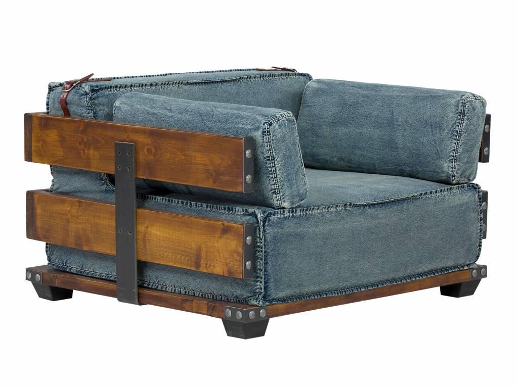 Elegant ... Sessel Im Industrie Design Aus Jeans Stoff ...