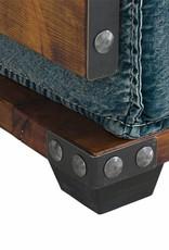 Sessel im Industrie Design aus Jeans Stoff
