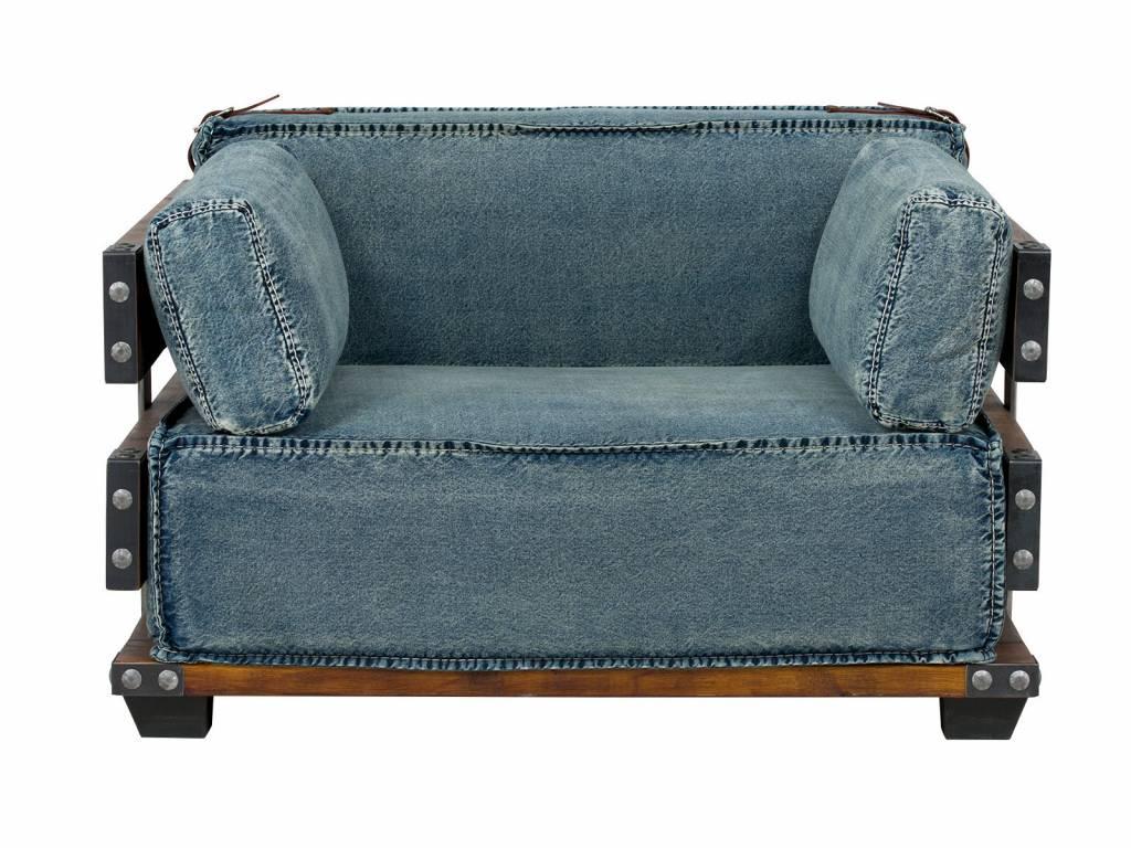 Fesselnd Sessel Im Industrie Design Aus Jeans Stoff ...