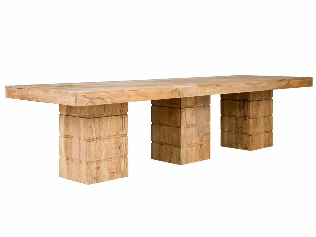 Konferenztisch xxl Tisch 3m rustikal Massiv Holz Tisch