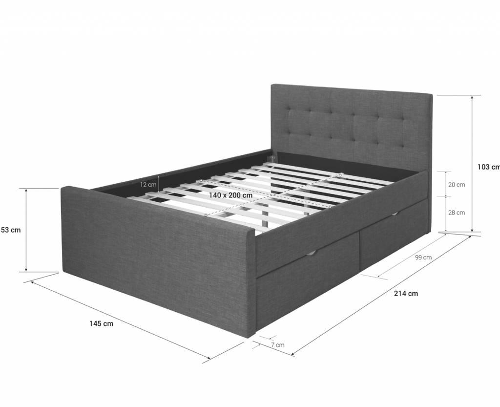 Doppel Bett Stauraumbett 140