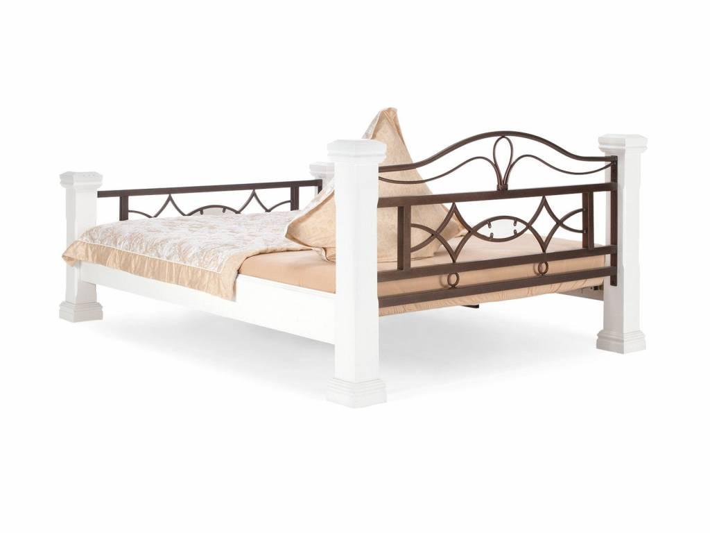 Massiv Holz Bett  140 160 180 cm Doppelbett weiß