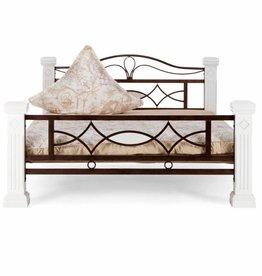 Massiv Holz Bett  weiß Landhaus Design