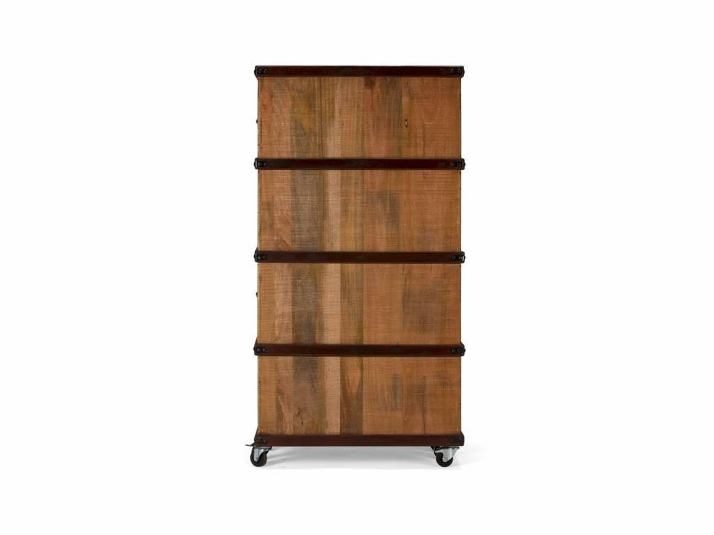 Computer Schrank – Koffer Schrank massiv Holz