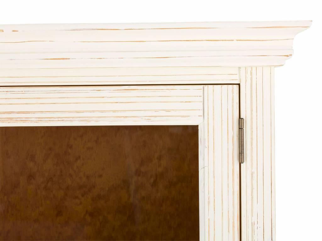 Vitrine Massiv Holz Schrank weiß