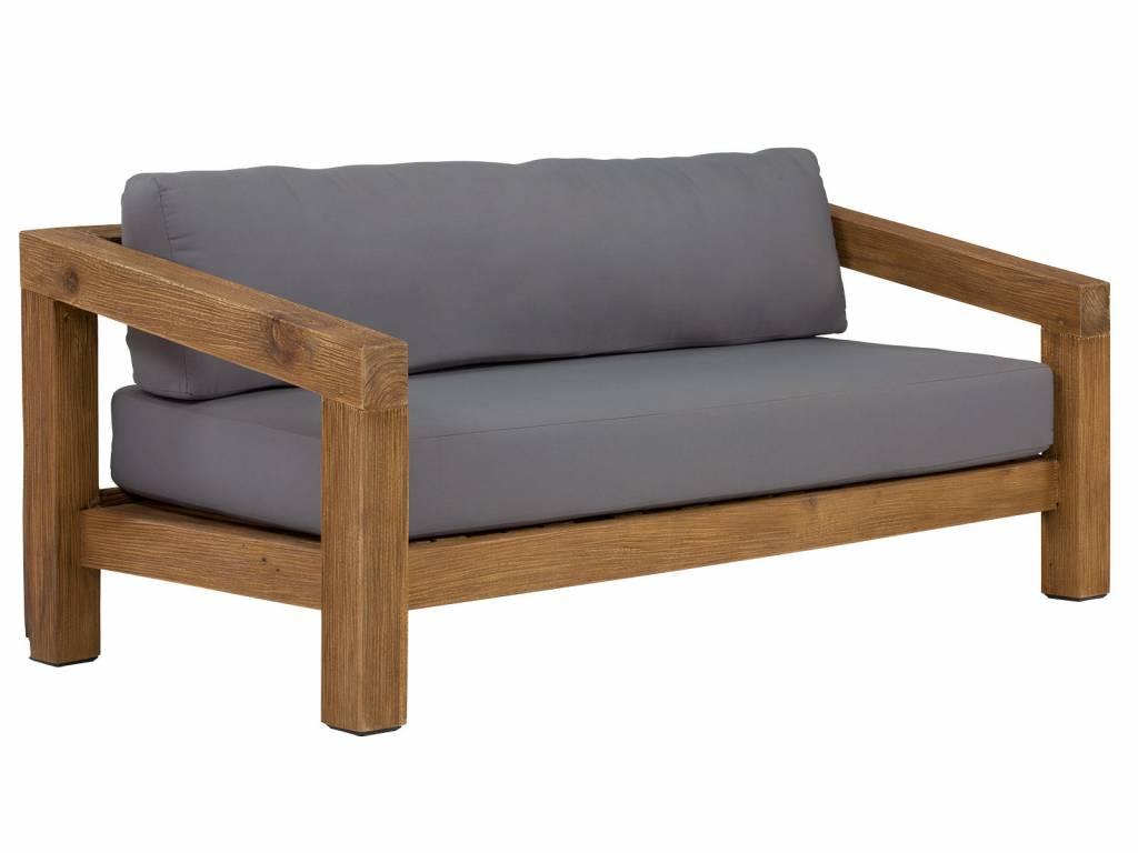Holz Gartenbank Mit Polster Kissen Garten Sofa