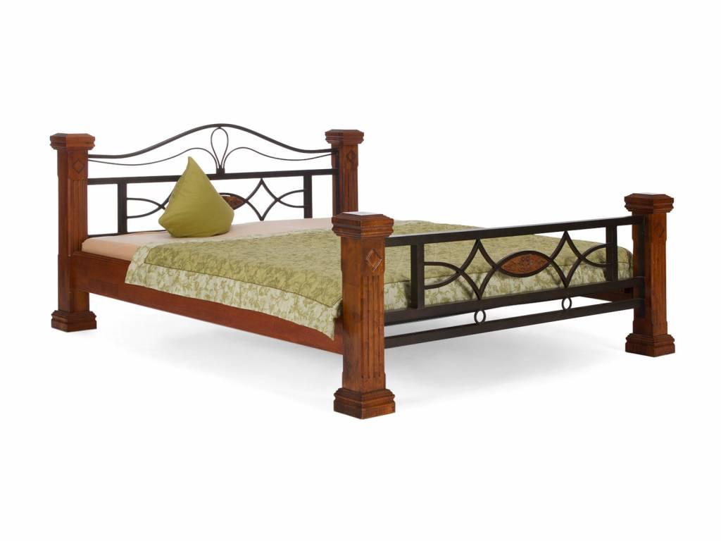 Landhaus Massiv Holz Bett  140 160 180 cm Doppelbett weiß