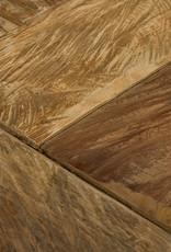 Kuhfell Hocker Teak massiv Holz