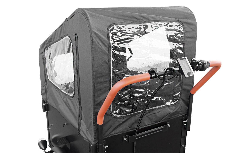 Ego Elektro Lastenrad  E Lastenfahrrad Dreirad mit Regenschutz