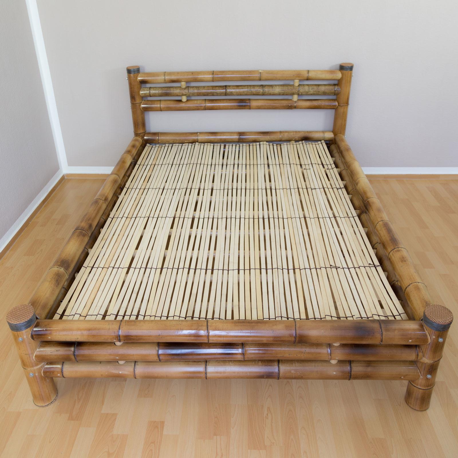 Bambusbett  Bambus Bett 140 x 200 cm