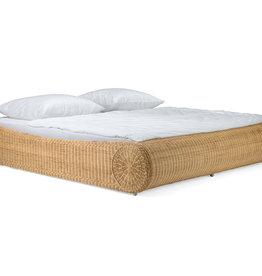 Rattan Ehe Bett 140 cm