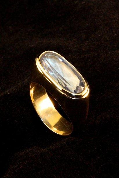 (As)ring GEM, goud met Aquamarijn