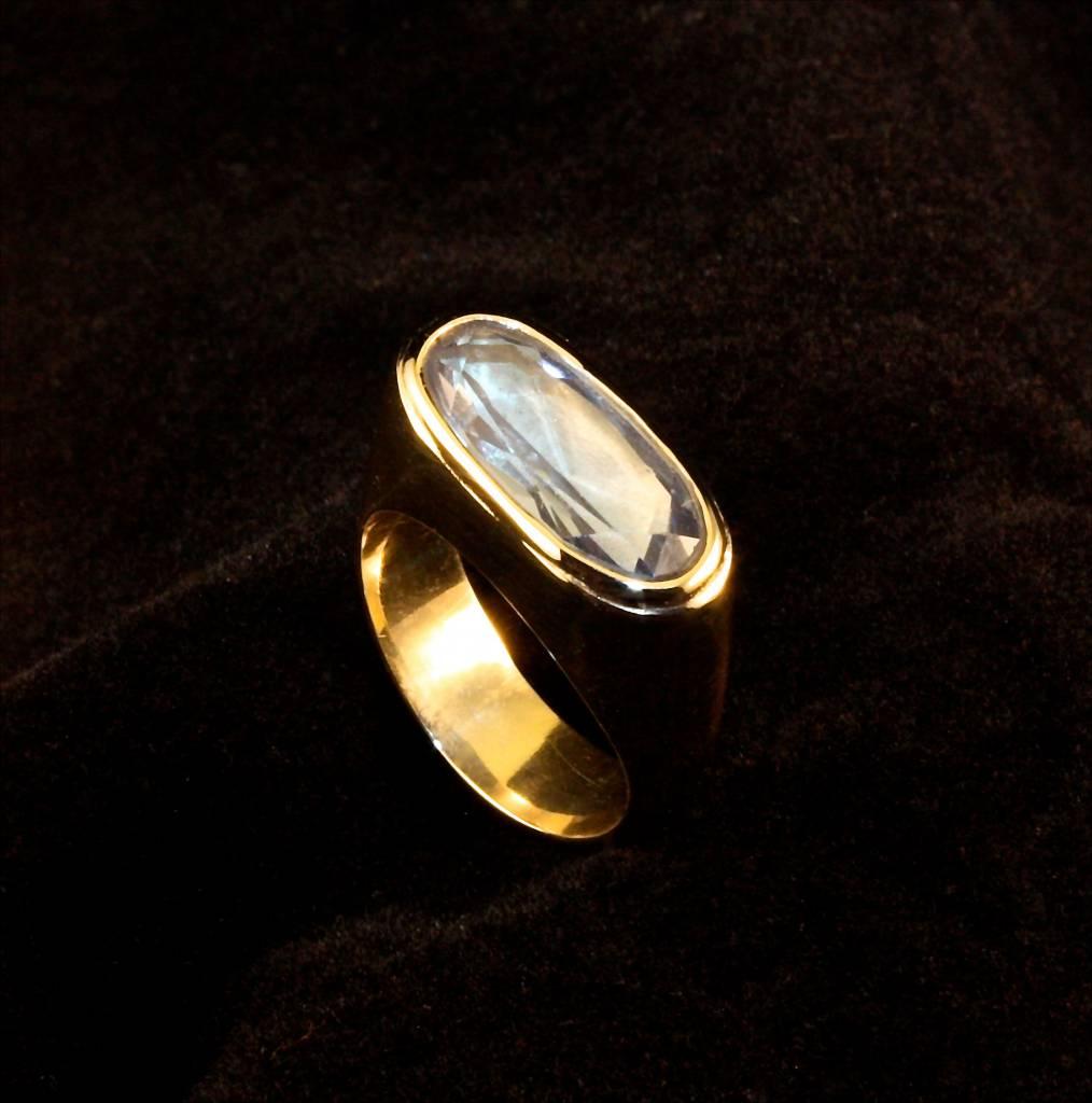 (As)ring GEM, goud met Aquamarijn-1