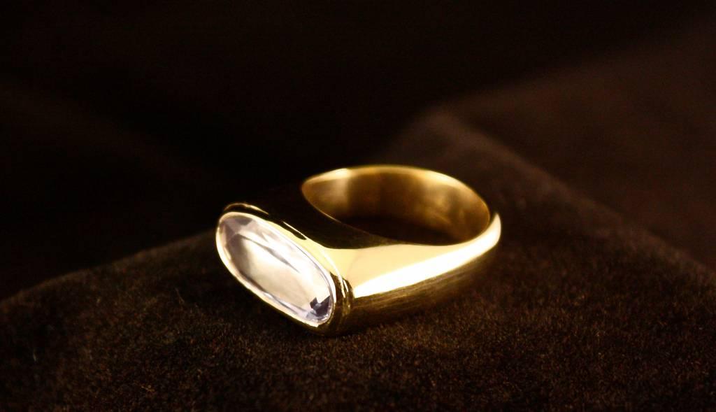 (As)ring GEM, goud met Aquamarijn-2