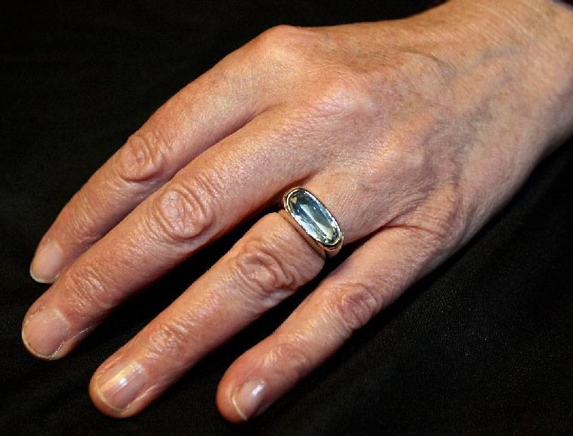 (As)ring GEM, goud met Aquamarijn-6