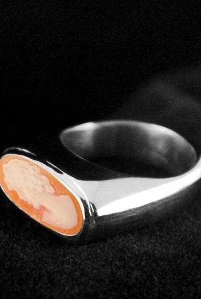 (As)ring GEM, zilver met Camee