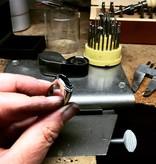Zilveren asring GEM - Opaal