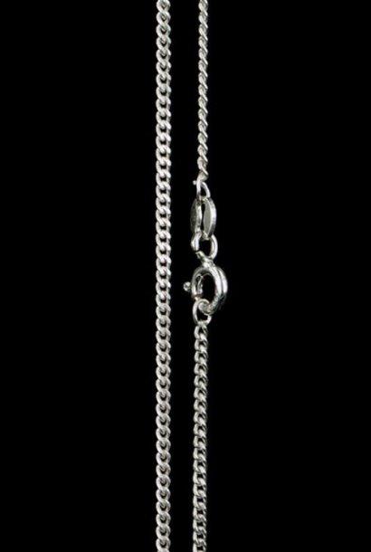 Zilveren collier GOURMET