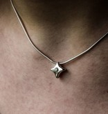 Zilveren ashanger TWINKEL - Moissanite - klein