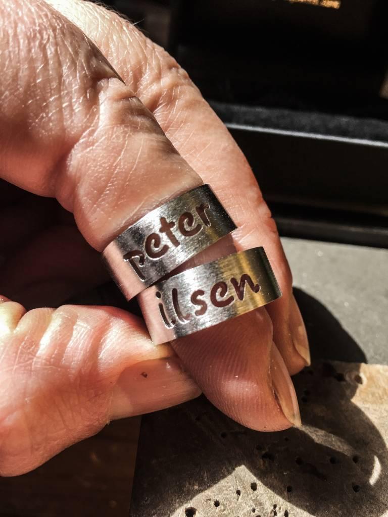 Ring NAAM, zilver-1